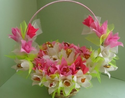 Корзина для цветов своими руками мастер класс